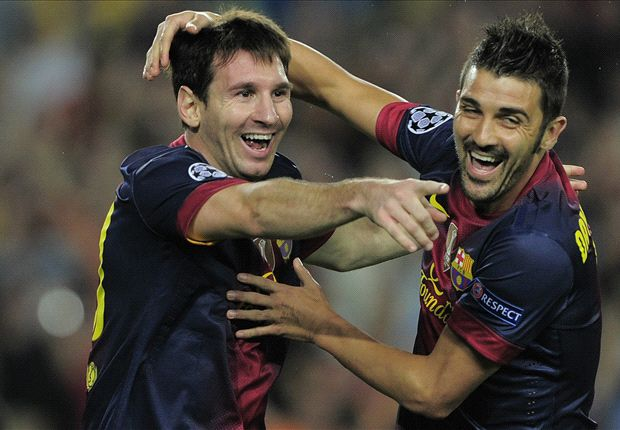 David Villa Messi David Villa Lionel Messi is