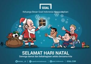 Segenap redaksi Goal Indonesia mengucapkan Selamat Hari Natal untuk Anda yang merayakannya.