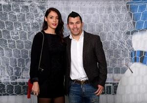 Medel e la fidanzata Cristina Morales