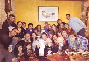 Mascherano compartió la foto familiar durante la Navidad.