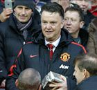 Van Gaal hands out presents to fans
