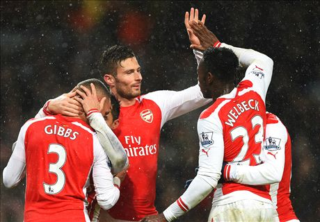Ten-man Arsenal hold off QPR