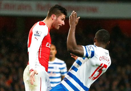 Ten-man Arsenal tested by QPR
