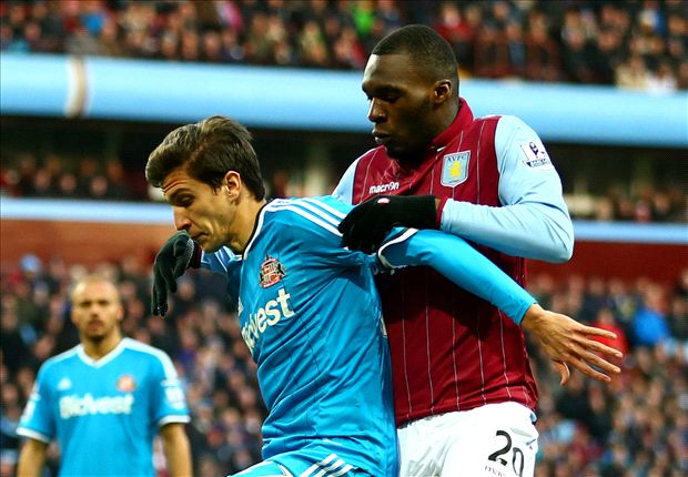 Aston Villa 0-0 Sunderland: Delph sees red in goalless draw