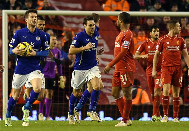 Liverpool 2-2 Leicester City: Anfield stunned as hosts surrender two-goal lead