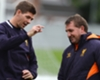 Steven Gerrard with Brendan Rodgers