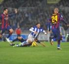 Sin nada, la Real gana a un penoso Barça