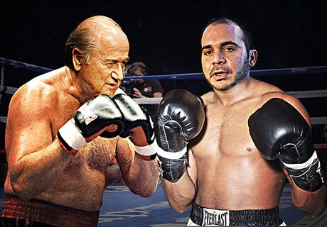 Ali steps into ring with Blatter