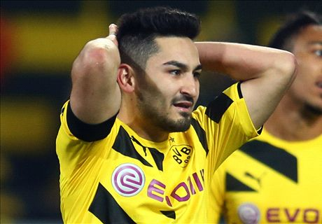 Gundogan injury blow for Dortmund