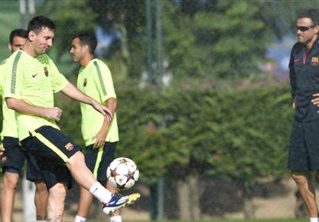 Messi & Enrique Sempat Bertengkar