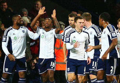 West Brom 1-0 Hull City: Berahino goal