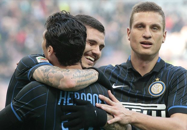 Inter 3-1 Genoa: Palacio, Icardi and Vidic score in Nerazzurri victory