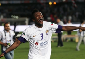 Asamoah Gyan scored a penalty for Al-Ain as they registered a 1-1 draw against Naft Tehran in Iran