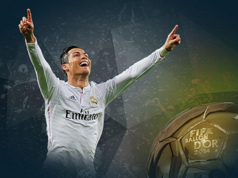 Cristiano Ronaldo Ballon d'Or 2014 winner