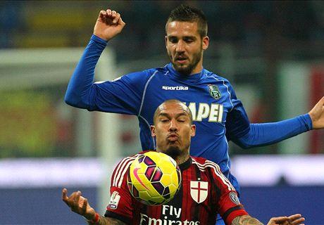 AC Milan 2-1 Sassuolo: De Jong late