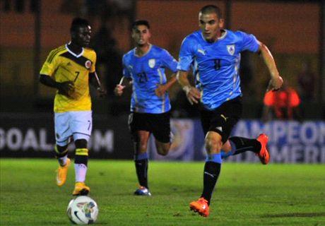 Sudamericano U20: Uruguay 1-0 Colombia