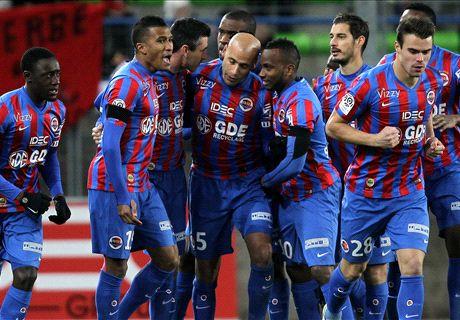 Résumé de match, Caen-Reims (4-1)