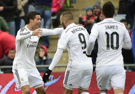 Getafe 0-3 Real Madrid: Ronaldo double