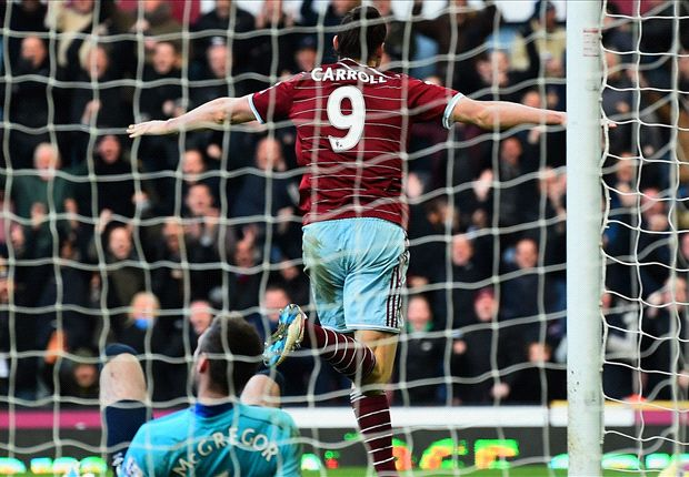 West Ham 3-0 Hull City: Carroll strikes in first league win in five games