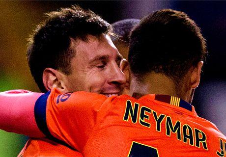 Barça y Bayern, con la mejor posesión