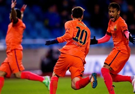 Messi brilla para el 4-0 de Barcelona