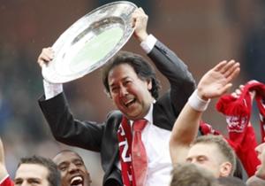 2009/10 - De voorzitter gaat op de schouders nadat de landstitel is veroverd.