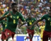 Cameroon defender Ambroise Oyongo celebrates after equalising against Mali