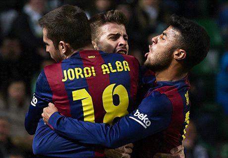 FT: Elche 0-6 Barcelona