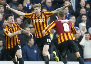 However, Jon Stead quickly pulled on back to give Bradford hope.