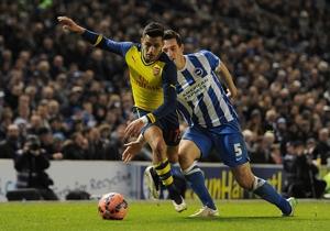 El seleccionado nacional, Alexis Sánchez jugó 20 minutos en el triunfo de Arsenal por 3-2 ante Brighton por la FA Cup.