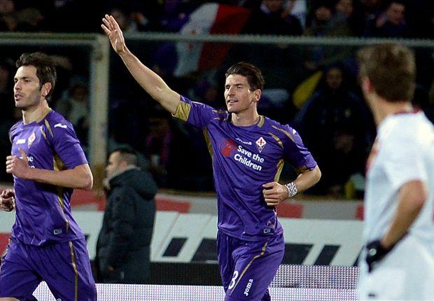 Mario Gomez setzte seinen Aufwärtstrend mit der Führung gegen die Roma fort
