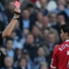 A lunging tackle on Andy Cole saw Ronaldo suffer his first straight red card in January 2006. The Old Trafford No.7 appealed, because he didn't actually make any contact on the Manchester City man despite the dangerous leap, but he was unsuccessful.