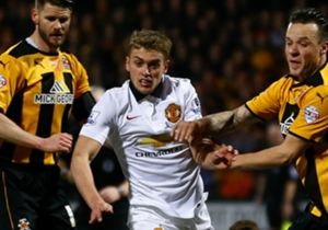 JAMES WILSON | Attacker | Cambridge United 0-0 Manchester United | Struggled to affect the match and was bullied out of the contest by Cambridge's burly defenders.