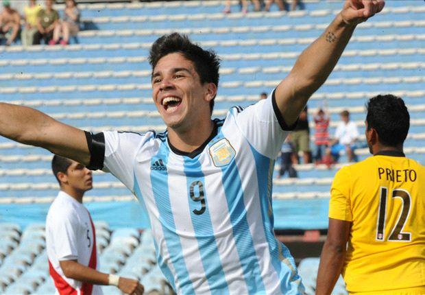 Giovanni Simeone, 19 anni, attaccante del River Plate