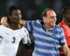 Ghana captain Asamoah Gyan and coach Avram Grant