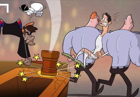 Caricatura: Neymar juzga a Cristiano