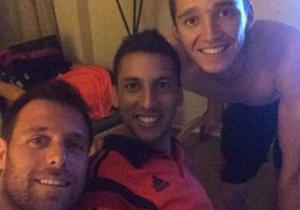 La imagen que subió el goleador a Twitter para apoyar a su amigo.