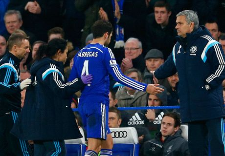 Chelsea sweating over Fabregas injury