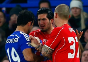 Diego Costa Chelsea; Emre Can Liverpool