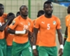 Ivory Coast celebrate Max Gradel's goal against Cameroon