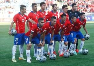 La formación de Chile ante Estados Unidos.