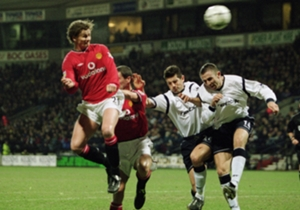 On January 29, 2002 | Ole Gunnar Solskjaer scores a hat-trick as Manchester United defeat Bolton 4-0 at Old Trafford.