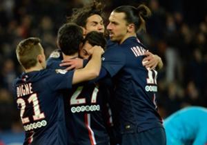 La joie des Parisiens après le but victorieux face à Rennes