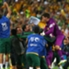 Socceroos celebrating: James Troisis Führungstreffer aus der 105. Minute löste Jubelstürme aus