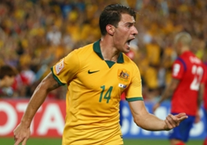 Substitute James Troisi roars to the crowd after putting his side back in front