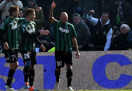 HT. Sassuolo 2-0 Internazionale