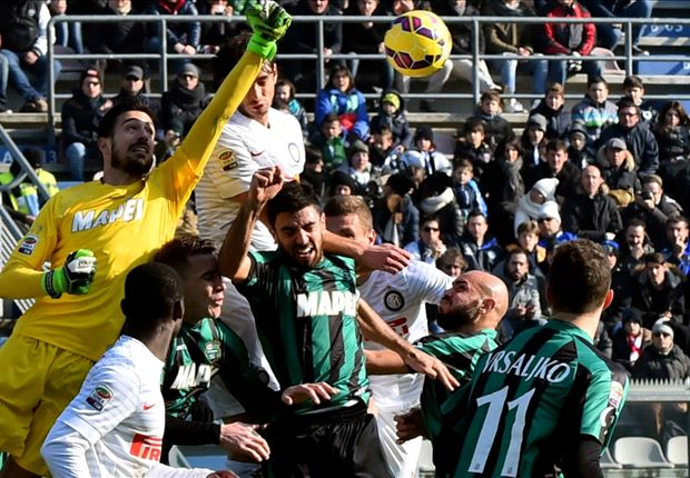 Sassuolo 3-1 Inter: Mancini's men slump to second successive league loss