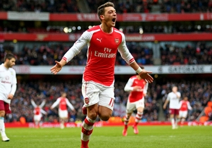 All four of the goals Mesut Ozil has been involved in this Premier League season have been against Aston Villa (two goals, two assists).