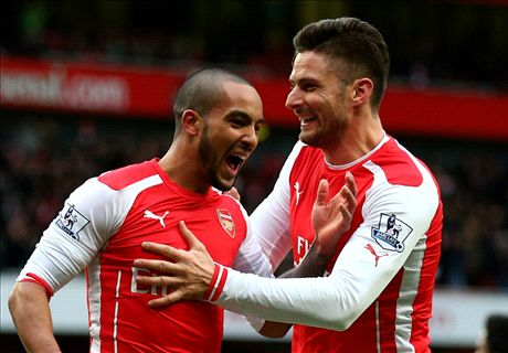 Five-star Arsenal cruise past woeful Villa