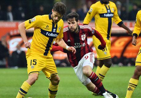 Milan-Parma LIVE! 1-1, palo di Alex